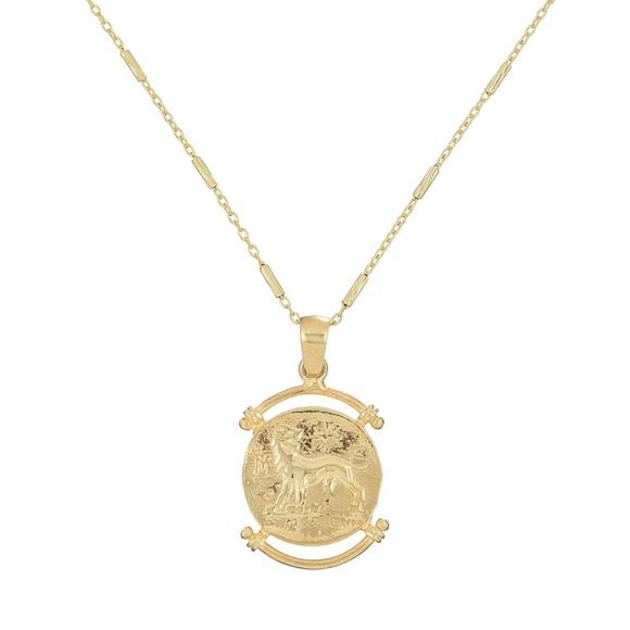 Greek coin necklace,greek coin pendant necklace Boutique